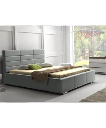 Lit gris avec tête de lit VERO
