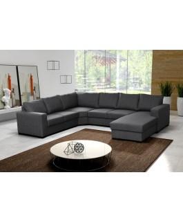 Canapé en U XXL 6 places gris OARA