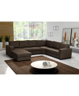 grand canapé 6 places panoramique beige OARA