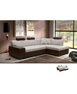 Canapé d'angle 4 places TERRA avec appuie-têtes
