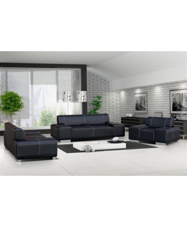 ensemble de canap s et fauteuil 3 2 1 flavio. Black Bedroom Furniture Sets. Home Design Ideas