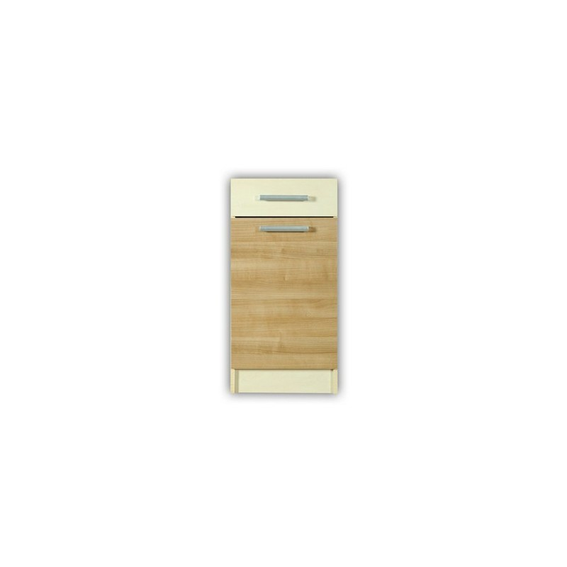 meuble cuisine bas 1 porte 1 tiroir 40cm elise. Black Bedroom Furniture Sets. Home Design Ideas