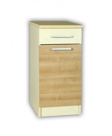 meuble cuisine bas 1 porte 1 tiroir 50cm elise