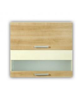 meuble cuisine haut capot vitrine 2 portes 60cm elise. Black Bedroom Furniture Sets. Home Design Ideas