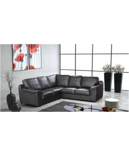 Canapé d'angle 5 places en cuir simili/en tissu/en tissu et simili cuir VENUS
