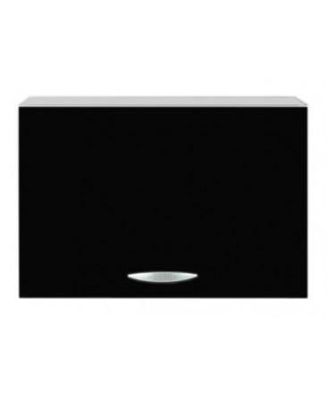 Meuble capot 1 porte 60cm noir