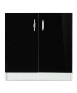 Élément bas 2 portes 60cm OXANE - noir