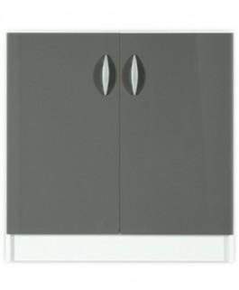 Élément bas 2 portes 60cm OXANE - gris