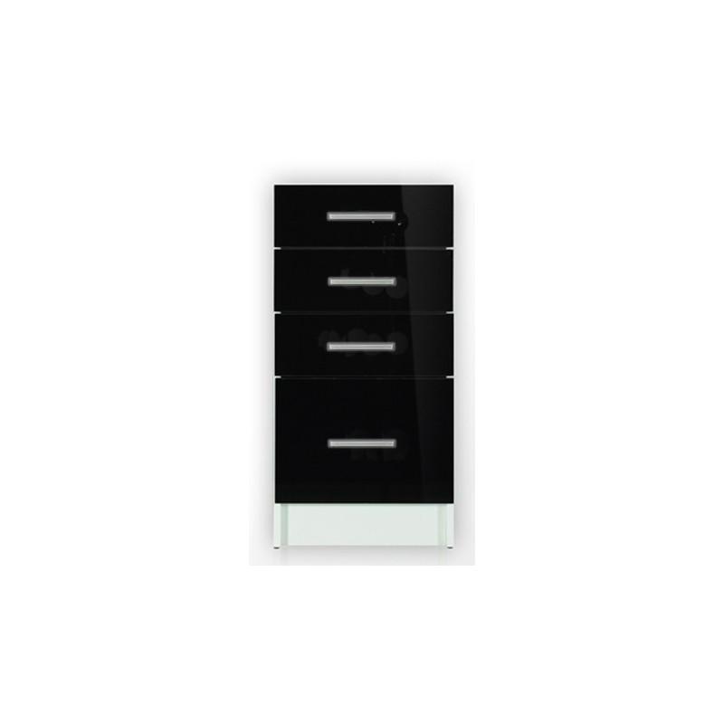meuble cuisine bas 4 tiroirs 40cm tara. Black Bedroom Furniture Sets. Home Design Ideas
