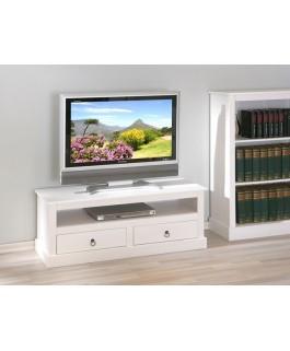 Meuble TV/HIFI PROVENCI blanc
