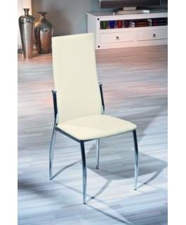 Chaise moderne beige DAN