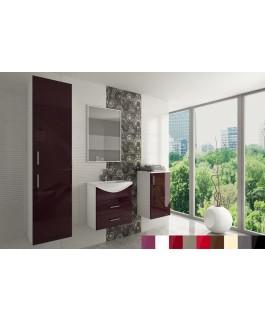 Salle de bain OCEAN laqué coloré aubergine, grise, rouge, noir, blanc