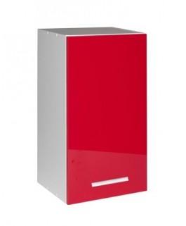 Élément haut 1 porte 50cm rouge