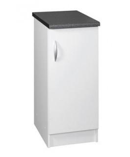 Élément bas 1 porte 30cm blanc oxane