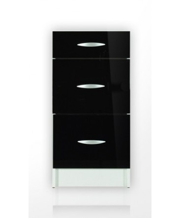 Élément bas 3 tiroirs 50cm OXANE noir