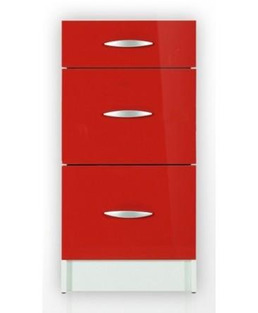 meuble cuisine bas 3 tiroirs 50cm oxane. Black Bedroom Furniture Sets. Home Design Ideas