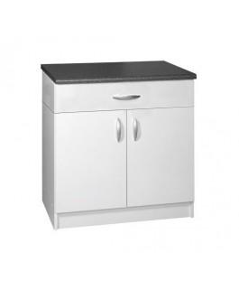 Meuble cuisine 2 portes 1 tiroir 80cm OXANE blanc