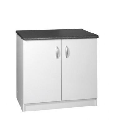Meuble cuisine bas 2 portes 90cm OXANE blanc