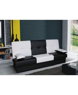 clic-clac bi-color JUNON noir et blanc