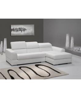 Canapé d'angle 4 places NÉTO / madrid Blanc eco-cuir pas cher