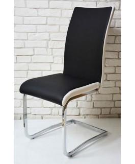Chaise design bi-color MAX, noir et blanc moderne pas cher
