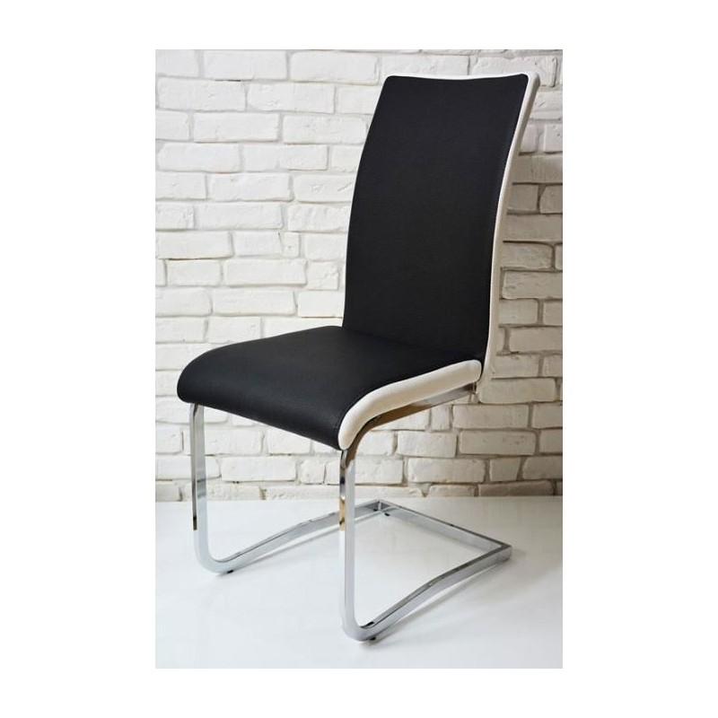chaise design bi color max noir et blanc moderne pas cher - Chaise Moderne Pas Cher
