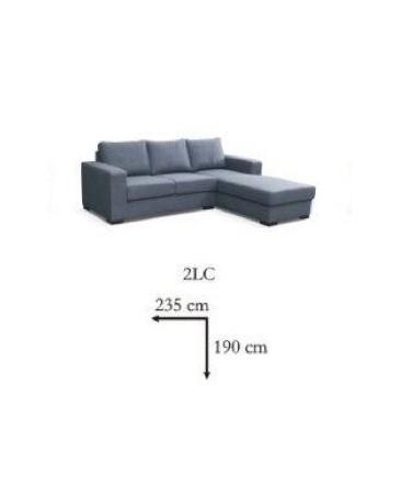 Canapé angle lili couleur lila 4 places