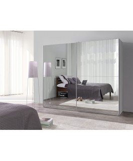 Armoire LUX coulissante + 2 grands miroirs