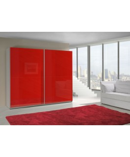 Armoire LUX glossy uni rouge