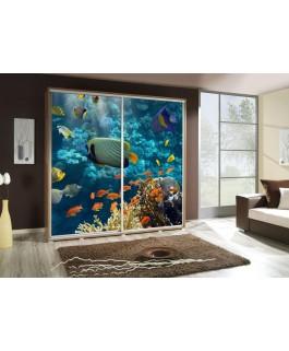 Armoire penelop imprimé aquarium