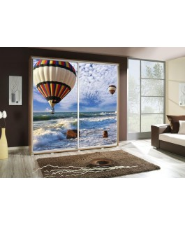 Armoire penelop imprimé montgolfière