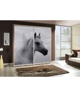 Armoire penelop imprimé cheval