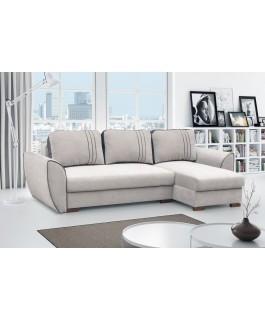 Canapé convertible lavable GRANT gris clair blanc