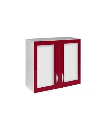 Élément haut 2 portes vitrines 80cm