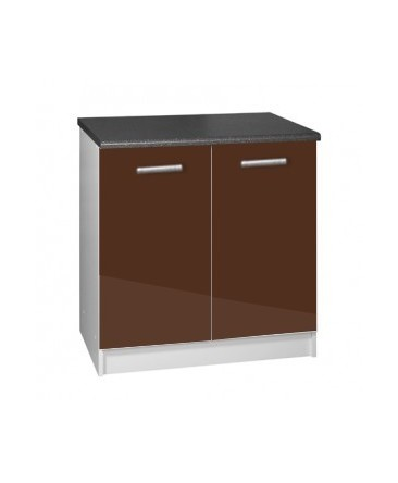 meuble cuisine bas 2 portes 80cm tara. Black Bedroom Furniture Sets. Home Design Ideas