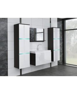 Salle de bain complète AQUILA avec LED blanc et noir