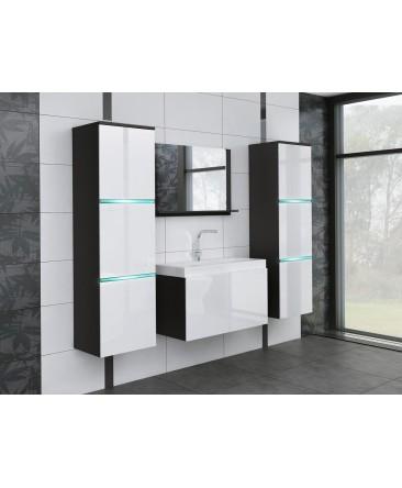 salle de bain compl te aquila avec led int gr s. Black Bedroom Furniture Sets. Home Design Ideas