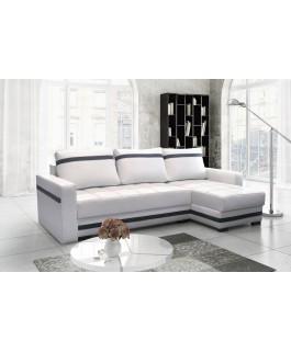 Canapé d'angle convertible MILNOR blanc
