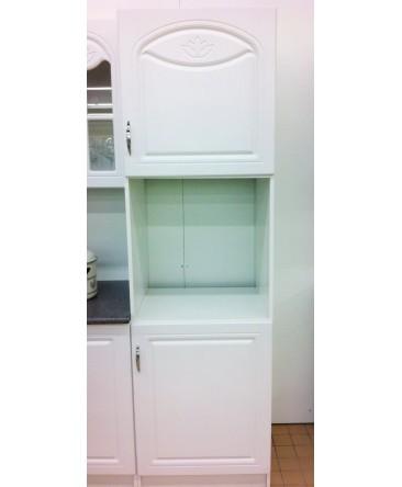 meuble cuisine colonne four dina blanc avec moulures. Black Bedroom Furniture Sets. Home Design Ideas