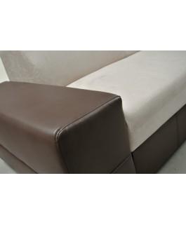Canapé d'angle convertible CAPRI + pouf