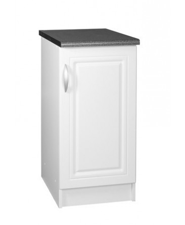 l ment bas 1 porte 40cm blanc dina pamela avec moulures. Black Bedroom Furniture Sets. Home Design Ideas