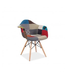 Chaise scandinave patchwork DONI inspiration Eames