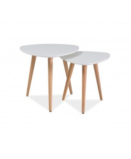 Ensemble 2 tables basses NOLA style scandinave