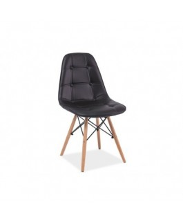 Chaise AXEL dsw aspect boutonné style scandinave