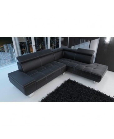 Canapé d'angle moderne DAYLON en simili cuir