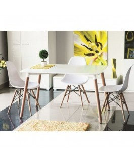 Table de cuisine NOLAN 120 cm style scandinave