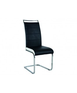 Chaise design TEAU en simili-cuir