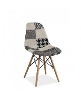 chaise somo noir et blanc style dswd scandinave - Chaise Scandinave Noir