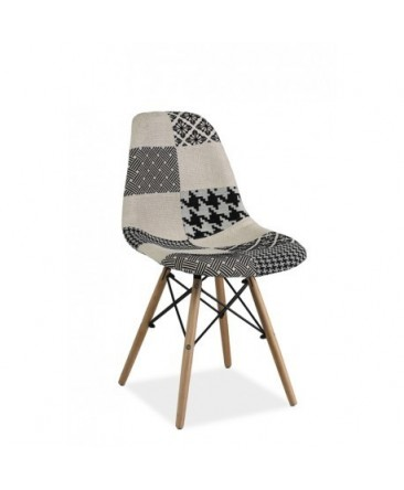 Chaise SOMO noir et blanc style DSWD scandinave
