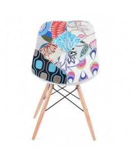 Chaise patchwork PASKAL style scandinave